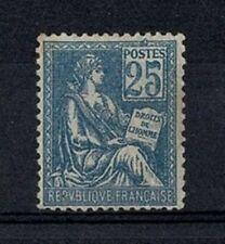 """FRANCE STAMP YVERT 114 SCOTT 119 """"RIGHTS OF MAN 25c BLUE 1900"""" MH VF SIGNED V768"""