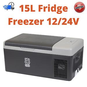 15L Portable Brass Monkey Fridge Freezer 12/24 DC Cooler Camping Car 4WD Caravan