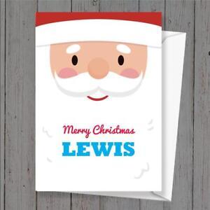 personalised Christmas card Santa any name/relation.