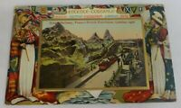 Official 1908 Franco-British Exhibition Colorful Fold-Out Center Postcard