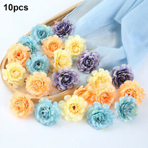 10pcs Flower Heads Artificial Peony Fake Bouquet Floral Wedding Birthday Party