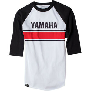 Factory Effex Yamaha Vintage Raglan T-Shirt (White / Black) Choose Size