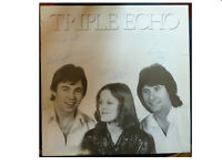 TRIPLE ECHO * RARE SIGNED SELF TITLED LP * ELLIE JAY EJSP 9518 PLAYS GREAT