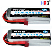 2xHRB 18.5V 3300mAh 5S LiPo Battery 60C-120C for RC Helicopter Car Boat 1/8 Logo