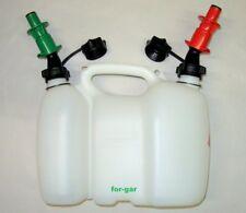 Kombikanister Doppelkanister + 2 Einfüllsystem für Benzin und Öl für Kettensäge