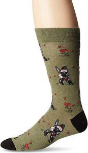 K. Bell Men's Classics Novelty Socks, Garden Ninja Gnome (Green),Shoe Size: 6-12