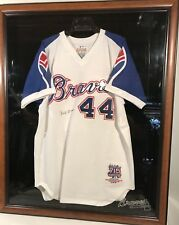 Hank Aaron Signed Authentic Limited Edition Mitchell Ness 1974 Braves Jersey