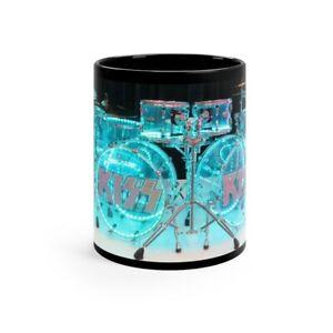 KISS Eric Singer's LITUP Pearl Acrylic Drumset Black mug 11oz