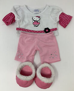 BUILD A BEAR Workshop Hello Kitty Outfit Top Shorts And Shoes