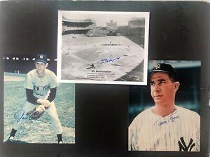(3) NY Yankees Autographed photos:Tommy Byrne, Gil McDougald, Jim Coates