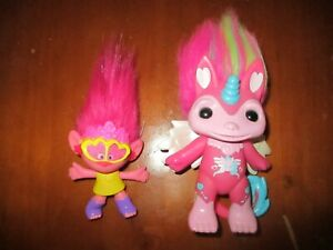 "Zelfs winged Unicorn Moose Toys Glow Girl Hightail 4.5"" & McDonalds Troll"