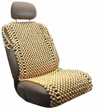 Wooden Full Bead Seat Cushion Cover Natural Wood Beaded Massage Car Office HS9