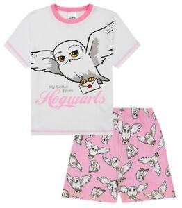 Filles Harry Potter Short Pyjama Hedwig My Lettre De Poudlard Pyjamas Rose Blanc
