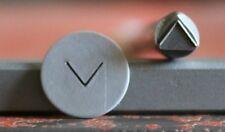 SUPPLY GUY 5mm Upside Down V Masculine Symbol Metal Design Stamp SGT-30, Made US