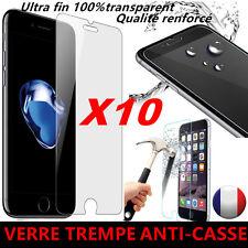 LOT Vitre iPhone 7/SE/6/6S/5/5S/4 protection verre trempé film protecteur écran