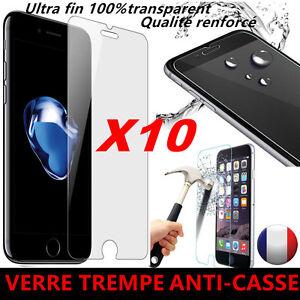 Vitre iPhone 8/7/Plus/6/5/SE/XR/XS/Max/11/Pro protection verre trempé film écran