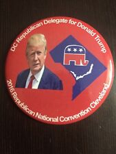 2016 Republican National Convention DC DELEGATION Donald Trump DELEGATE Button