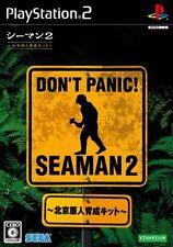 USED Seaman 2: Peking Genjin Ikusei Kit (w/Microphone) Japan Import PS2