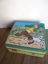 boite Tintin en métal