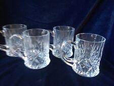 Cristal D'Arques Durand Crystal Chantilly Coffee Mug Set Of 4