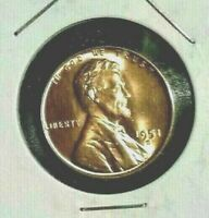 1951 - D  Lincoln  Wheat  Cent  BU  Red  Nice  US  Coin   Free   Shipping