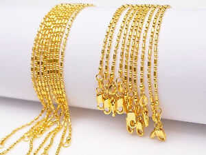 "10PCS Wholesale 30"" Nice 18K Yellow GOLD Filled BALL CHAIN NECKLACES For Pendant"