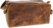 Fashion Boots FB Bags 917 Distressed Red Kulturtasche für Herren und Damen Braun