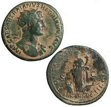 Brass Roman dupondius of Hadrian.  Annona reverse.  Scarce.