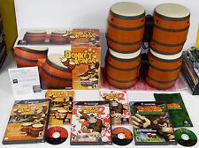 Donkey Konga 1 & 2 & DK Jungle Beat w/ 2 Sets of Bongos Bongo Nintendo Gamecube