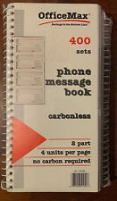New listing New Carbonless Phone Message Book - Office Max Sc-1154-2M - 400 Sets Per Book!