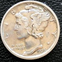 1936 D Mercury Dime 10c High Grade BU Silver #19354