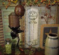 Primitive Antique Vtg Style Farmhouse GRAIN SACK 1836 SEED Thermometer