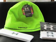Under Armour Men's UA Storm 1 ColdGear Beanie Hat Neon Green NEW WITH TAGS BONUS