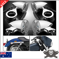 4x 39mm Motorcycle LED Turn Signal Indicator Light Harley Bullet Chrome dyna XL
