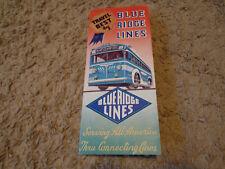 1940's Blue Ridge Lines Bus Company Brochure Dt