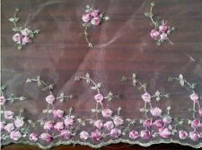 2 Yards of Embroidery Organza Fabric  Scalloped Embroidery Border $8.99/yard