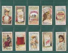 ADVERTISING - SET OF 25 - F & J SMITH ' ADVERTISEMENT  CARDS ' CARDS - REPRINTS