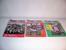 3 PENN STATE FOOTBALL PROGRAMS 1992 - PRE BIG 10