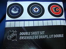 New 4 pcs NHL hockey bedding 7 Canadian teams logos Full Double sheet set