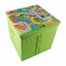 KIDS MULTI PURPOSE Foldable Storage BOX PLAYMAT Organiser Toy Seat Chest Child