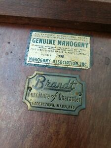Brandt antique table genuine mahogany #155
