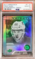 2017 2018 UPPER DECK Vince Dunn PSA 10 PORTRAITS RC ROOKIE GOLD GREEN FOIL