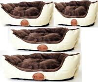 Deluxe Soft Washable Cat Dog Pet Basket and Bed Cushion with Fleece Lining