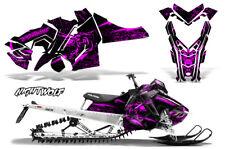 Polaris SKS Pro RMK Sled Decal Wrap Snowmobile Graphics Kit 06-10 NIGHTWOLF PNK