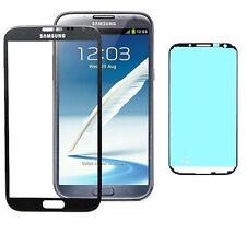 VETRO VETRINO SAMSUNG GALAXY NOTE 2 N7100 NERO BIADESIVO NO TOUCH SCHERMO LCD