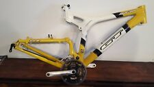 GT XCR 2000 I Drive full suspension mountain bike frame with cranks and