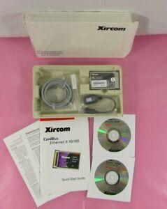 Xircom CBE2-100 CardBus Ethernet II 10/100 32-bit PCMCIA PC Card w/ Cable & CDs