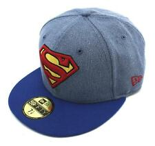 NEW ERA - 59FIFTY CAP. DENIM HERO SUPERMAN CAP. IDBOTC. BLUE DENIM. Fitted.