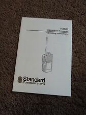 Standard HX381 FM Handheld Transceiver Radio Owners Operating Manual Operation