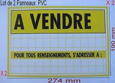 Lot 2 Panneaux ,Adhésif ou à Visser Signalisation en PVC,,274 x 190 mm, A VENDRE
